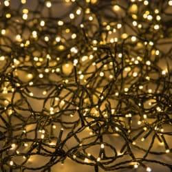 Minilys 40 LEDpærer sort 5 + 4 m