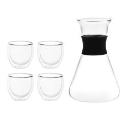 Glass 4 stk med karaffel 100ml gavepakke