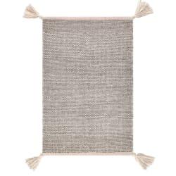 Teppe ull grå sort 60x90cm