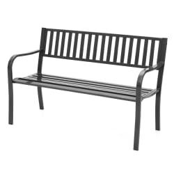 Benk grå 127x81,5x59cm