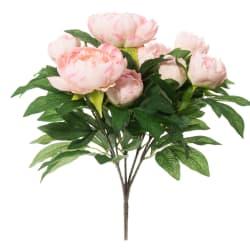 Bukett peoner kunstig rosa 50cm