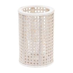 Lykt med glasssylinder hvit 25cm
