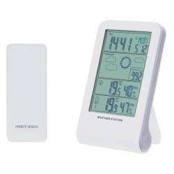 Termometer trådløs med barometer hvit