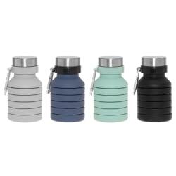 Flaske sammenleggbar ass farger blå grønn grå sort 470ml