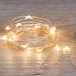 Minilys 50 LED pærer 5m for 3xAA batteri(ikke inkl)