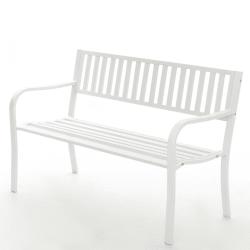 Benk hvit 127x81,5x59cm