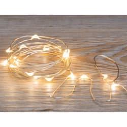 Minilys 20 LED pærer 2m for 3xAA batteri(ikke inkl)