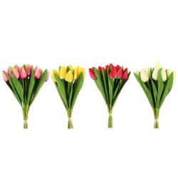 Bukett tulipaner kunstig 4 ass farger 40cm