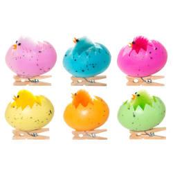 Dekorkylling i eggeskall 6-pk med klype ass farger