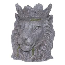 Potte løvehode grå 39cm