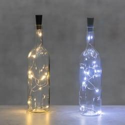 Lyslenke med 10 ledlys for flaske (batteri ikke inkl.)