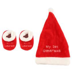 Strømper og lue min første jul