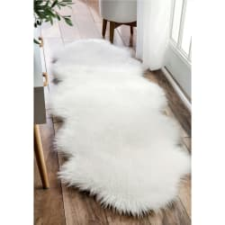 Skinn kunstig hvit 60x180cm