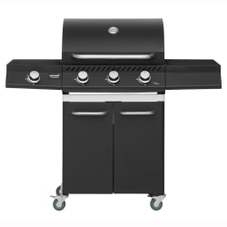 Gassgrill Knoxville 3+1brennere sort