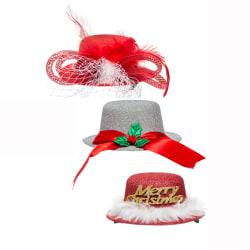Dekorhatt med pinne mini juledekor