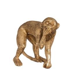 Dekorfigur apekatt gull 16,7cm
