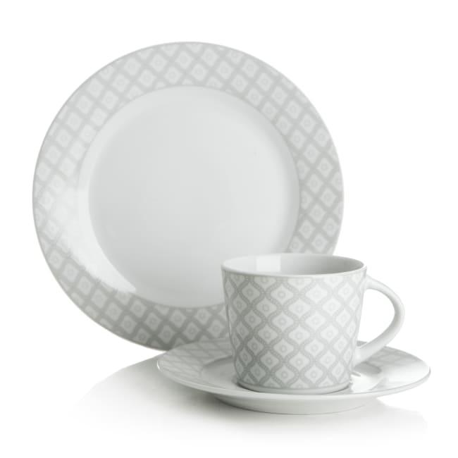 499732c2 Kaffeservise grå 18 deler/6 personer porselen Velkommen til Festival.no