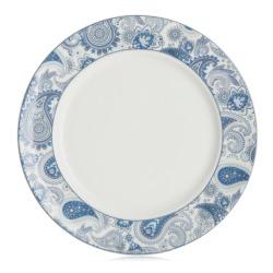 Asjett Songvaar paisley blåtoner Ø:20,5 cm