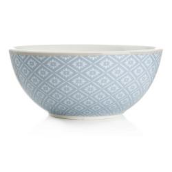 Skål Songvaar lys blå m/hvitt mønster
