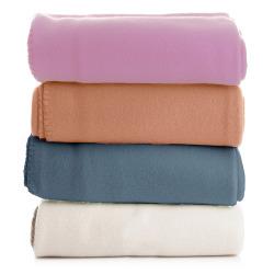 Pledd fleece 4 ass rosa/offwhite/orange/petrol 130x170 cm