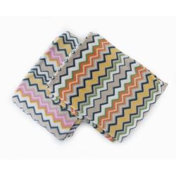 Pledd Coral fleece i sikk sakk mønster 2ass 130x170