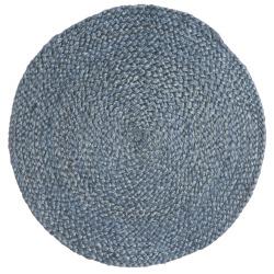Spisebrikke jute rund Ø:35 cm blå