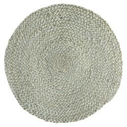 Spisebrikke jute rund Ø:35 cm lys grønn