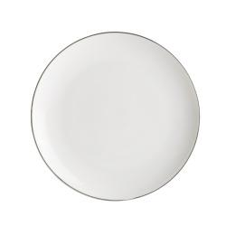 Enjoy Asjett Saga hvit med sølvkant  H:2 B:20 D:20