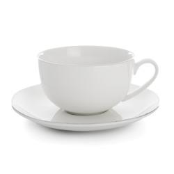 Enjoy Tekopp Saga hvit med sølvkant  H:6 B:10 D:12