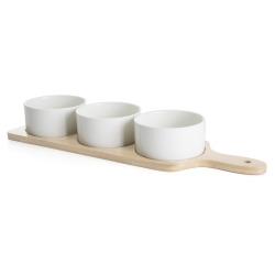 Tapasfat i tre med 3 skåler