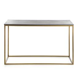 Bord Gustav grå/gull 120x40x76 cm