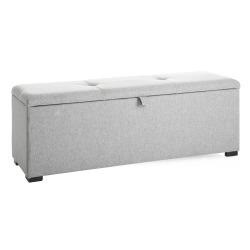 Benk m/oppbevaring grå L:120 cm