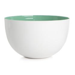 Skål hvit/mint Ø:15,5 cm