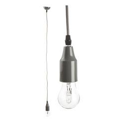 Taklampe/pendel grå H:120 Ø:8 cm