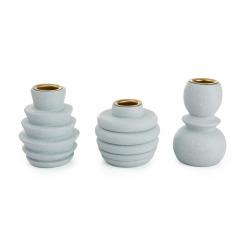 Lysestaker s/3 i PVC boks lys blå