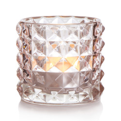 T-lysglass Diana glass lys rosa H:8,5