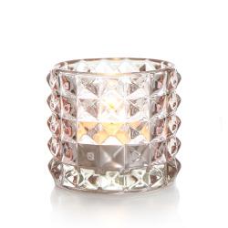 T-lysglass Diana glass lys rosa H:6,5 cm