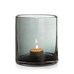 Lysglass Aske grå 12 cm