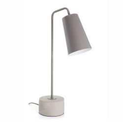 Bordlampe grå med betongfot