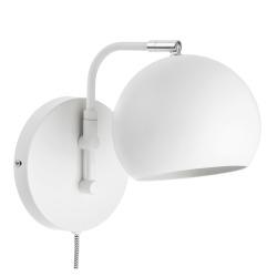 Vegglampe hvit Ø:14 cm