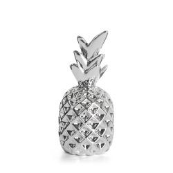 Ananas porselen sølv H:11 cm
