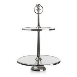 Madame Etasjefat Royal glass/sølv  H:47 B:30 D:30