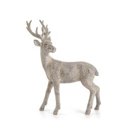 Dekorreinsdyr Nostalgi grå 21,5 cm
