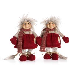 Figur jente/gutt Gautefall juletroll rød 26 cm