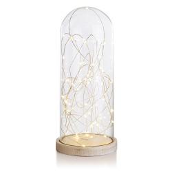 Dekorkuppel glass m/35 LED H:31 Ø:13 cm