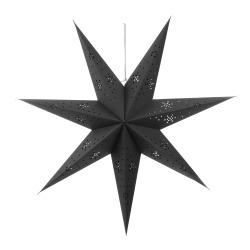 Papirstjerne 7-armet sort 70cm