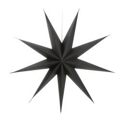 Papirstjerne 9-armet sort 70 cm