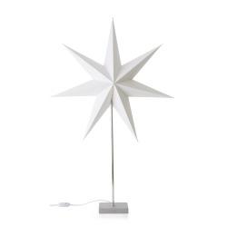 Papirstjerne på fot 60 cm hvit
