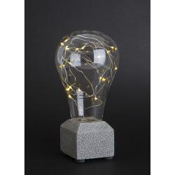 Lyspære m/20 LED lys på betongfot H:23 cm