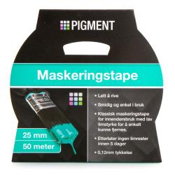 Maskeringstape 25 mm 50 m Pigment
